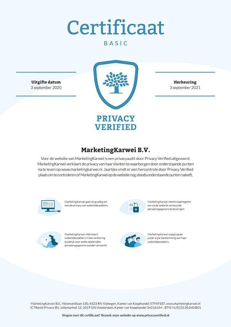 MarketingKarwei Privacy Verified