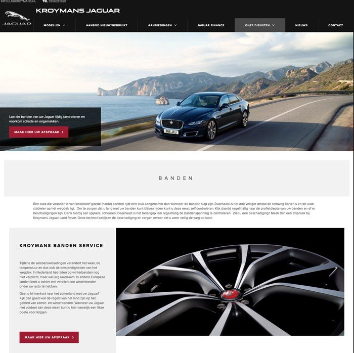 Jaguar website kroymans