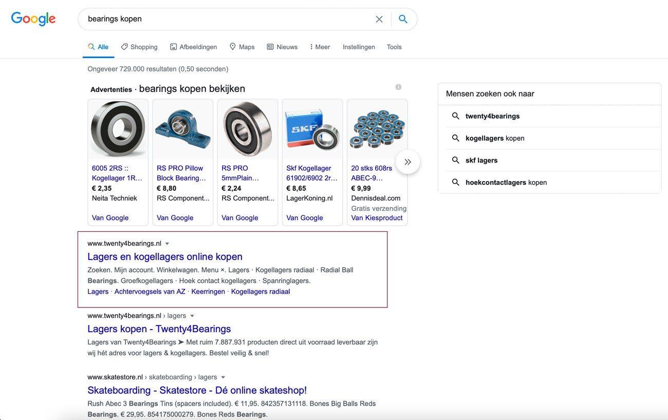resultaten google twenty4bearings 2